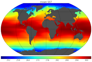 mean sea surface temperature